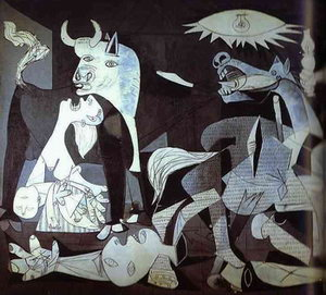Detail of Guernica by Picasso, 1937
