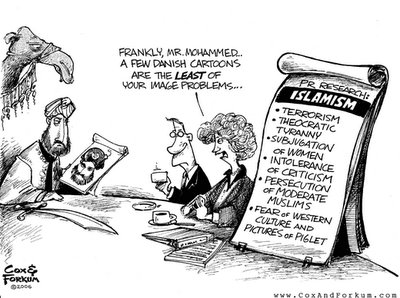 US cartoon on problems of the Islamic World